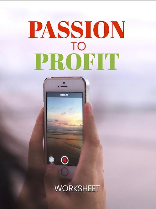 Passion to Profit Worksheet