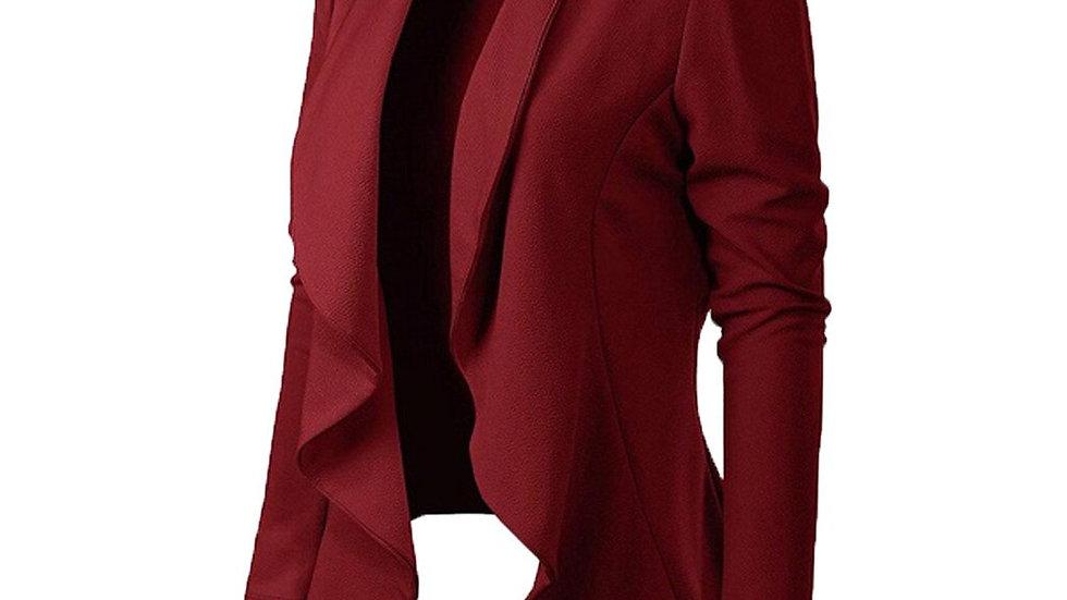 Down Collar Long Sleeve Brief Blazer Coat Women Blazer