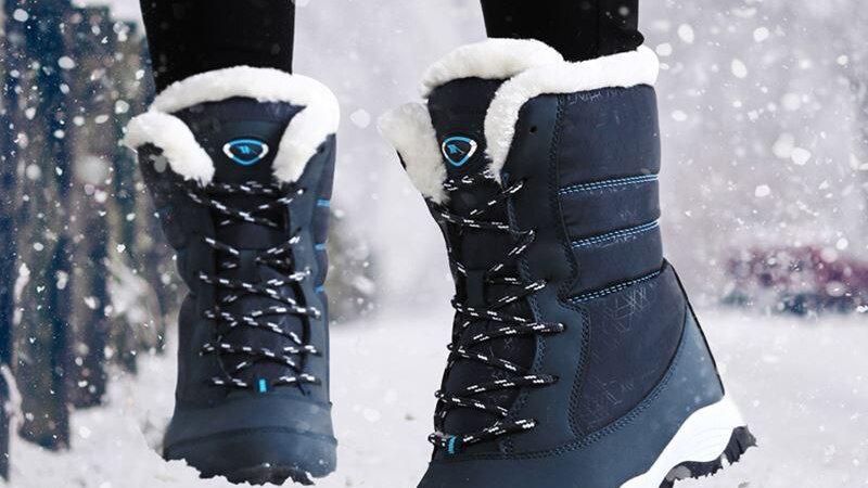 Women Boots Non-Slip Waterproof Ankle Snow Boots Women Platform