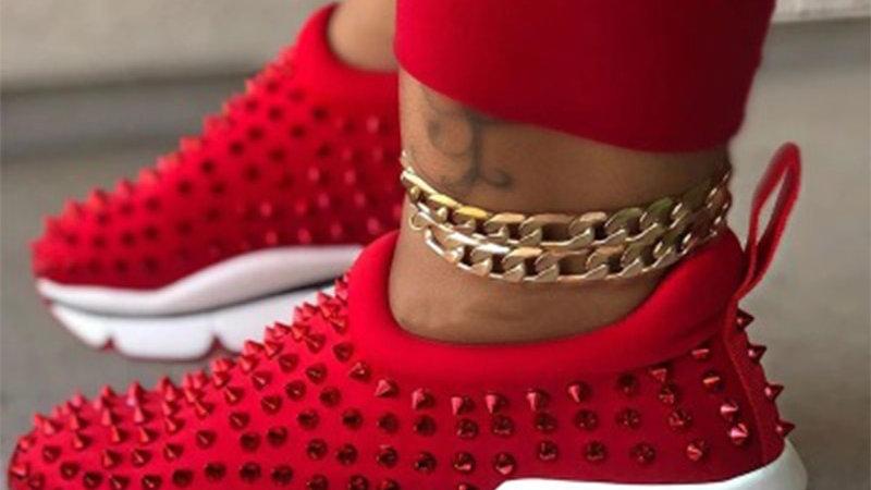 Vulcanized Woman Rivet Shoes Female Platform Wedges