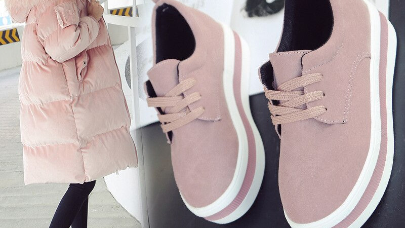 Women Flats Sneakers Shoes Spring Moccasin Fashion Creepers
