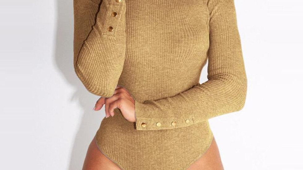 Fashion Bodysuit Women Long Sleeve Shirt Jumpsuit Bodysuit Stretch Leotard