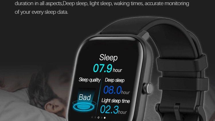 Smart Watch Men Women Full Touch Fitness Jogger Tracker Blood Pressure