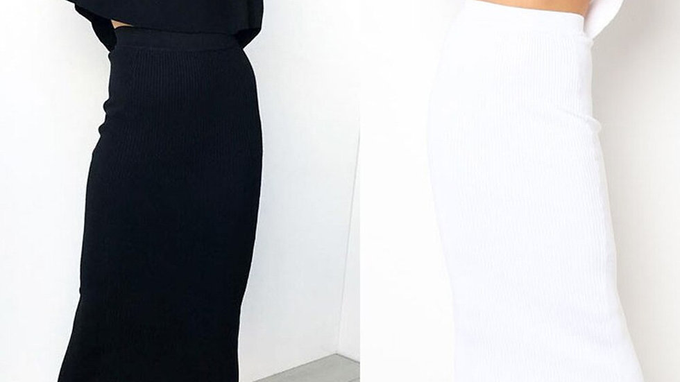 Women Slim Casual Solid Skirt Sexy Bodycon Long Skirt
