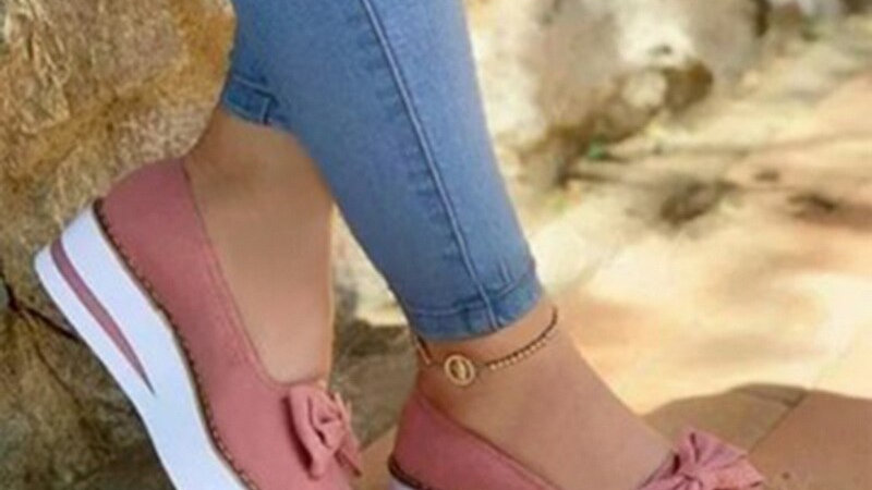 Butterfly-Knot Women Flat Vulcanized Shoes Thick Bottom