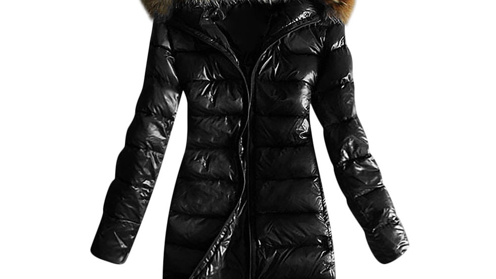 Hoodie Parka Women Quilted Winter Warm Hooded Coat