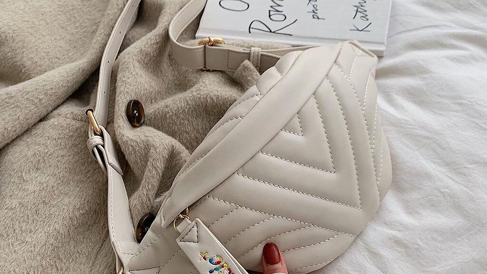 Women Messenger Belt Bag Pack Plaid Waist Bags Girl Travel Small