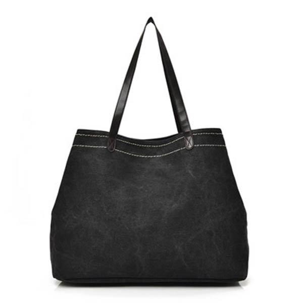 Casual Donna Borsa a Spalla con Manici in Tela con Grande Capacità Shopping Bag