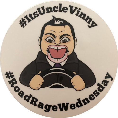 Road Rage Wednesday Sticker