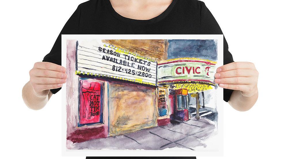 """Evansville Civic Theatre by EDW Designs [12""""x16""""]"""