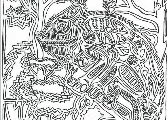 Spectral Chameleon Coloring Page