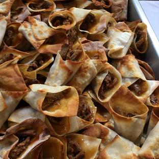 Fall Wedding Pork and Mango Salsa Horns