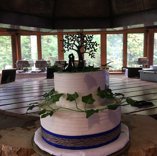 Fall Wedding Cake Vines & Tree Wedding C