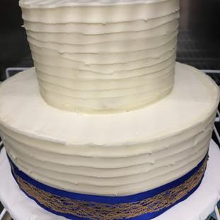 Fall Wedding Cake Simple Ribbon