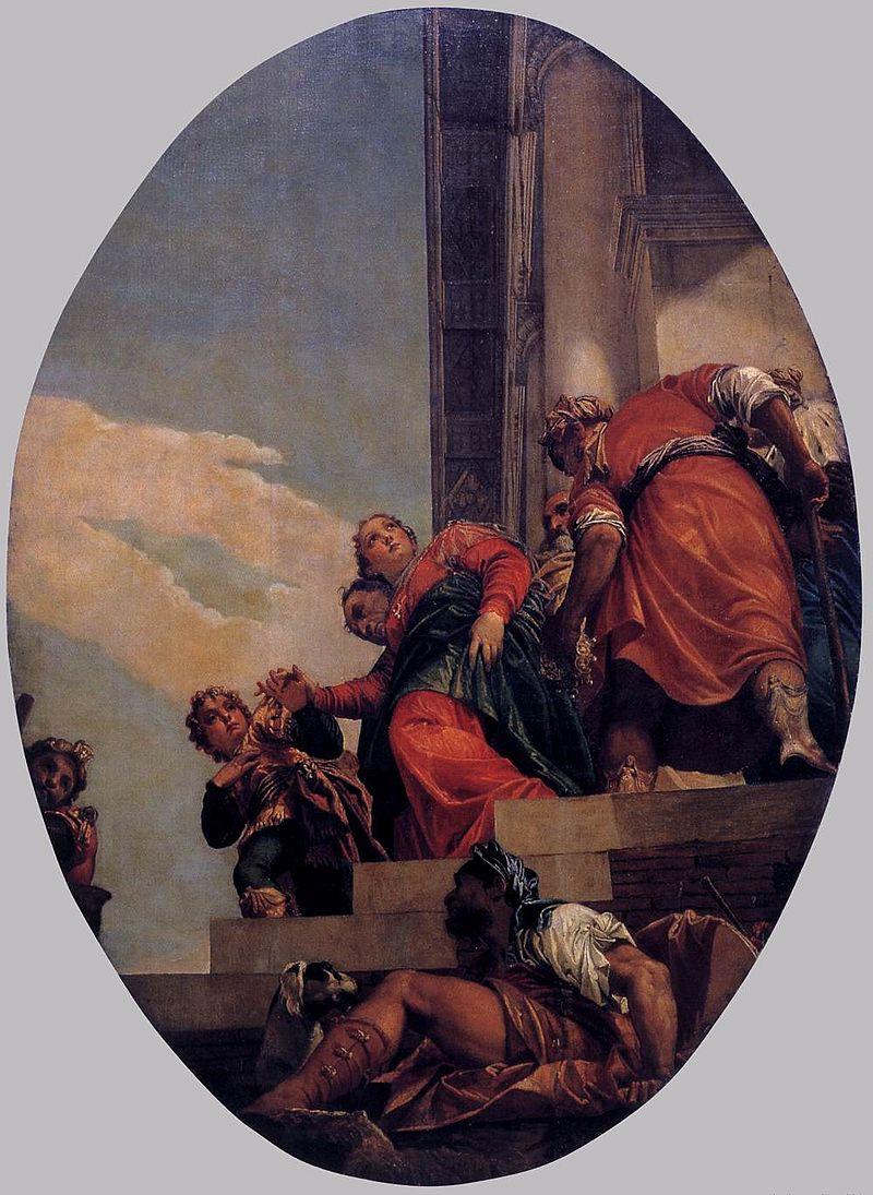The Banishment of Vashti, Paolo Veronese 1556