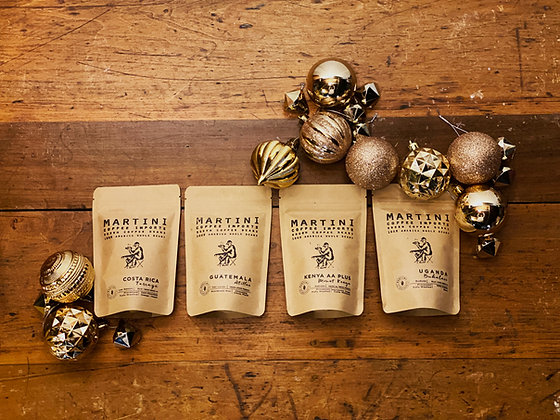 Premium Unroasted Green Coffee Sampler Box  - Includes Four, 4 oz Samples (1lb T