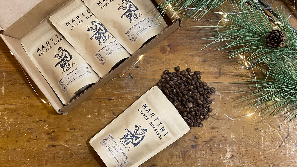 Roasted Coffee Sampler Box  - Includes Four, 2.5 oz  Samples