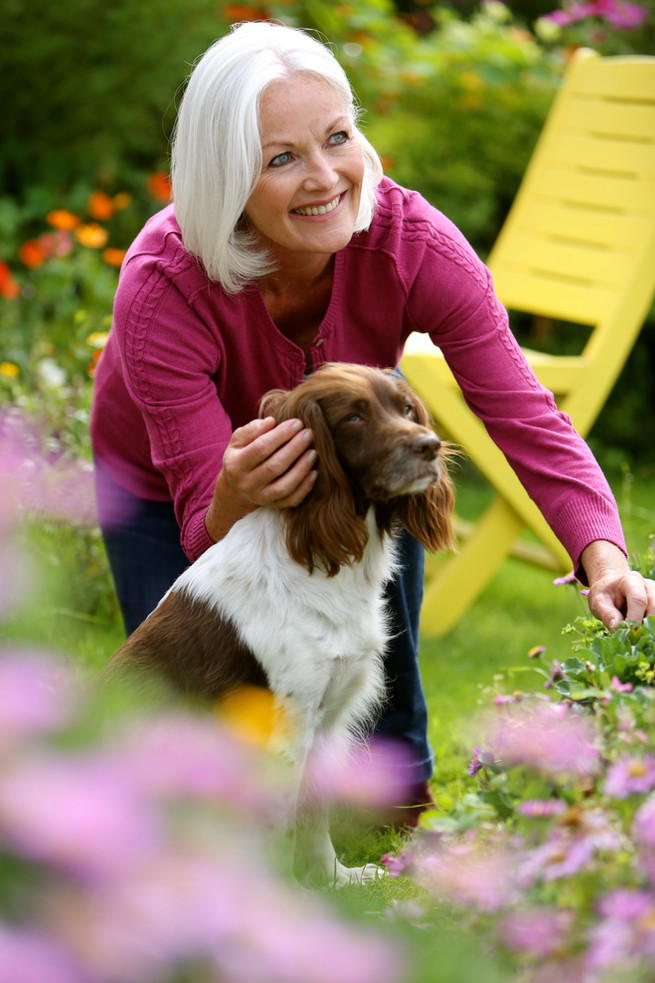 Gardening with dog
