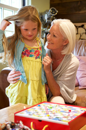 Grandmother with grand-daughter