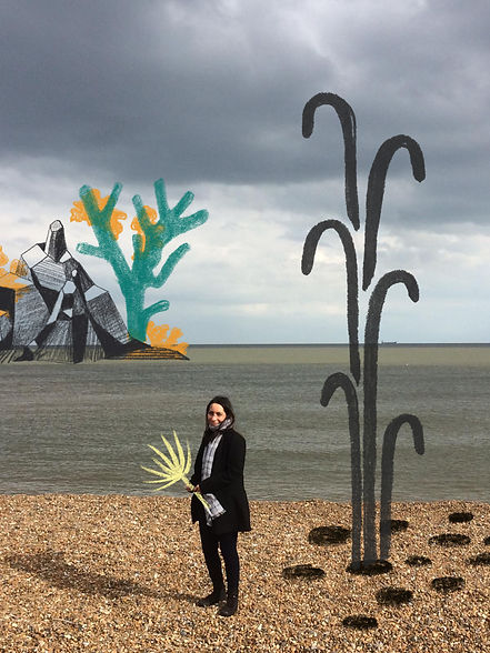 catalina carvajal visual artist digita collage plants illustration shingle street suffolk