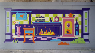 Mural inspired by life in Ipswich and Su