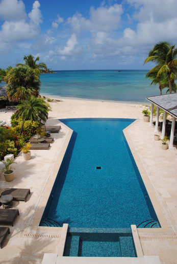 Jumby Bay Hotel and Resort private home and villas.