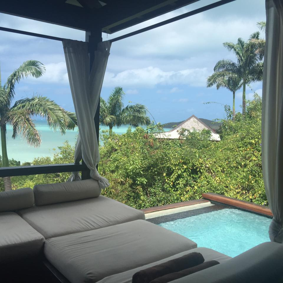 Plunge Pool with a view, Hermitage Bay Antigua...  Elli Travel is a New York Luxury Travel Agency specializing in leisure travel for families, couples & groups.  Proud members of Virtuoso, Four Seasons Preferred, Rosewood Elite, Belmond Bellini Club, Starwood Luxury Privelages and Ritz Carlton Stars