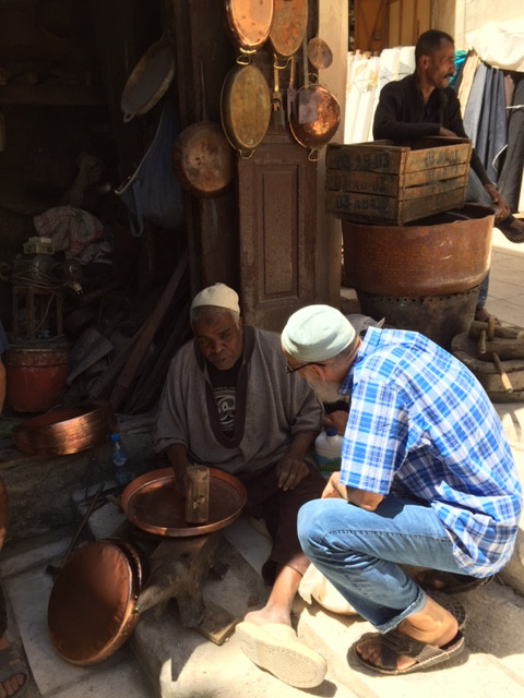 So many characters in the streets of Fez, one of the many coppersmiths....  Elli Travel Group is a New York Travel Agency based in Larchmont New York. Proud members of Virtuoso, Rosewood Elite and Starwood Luxury Privileges.