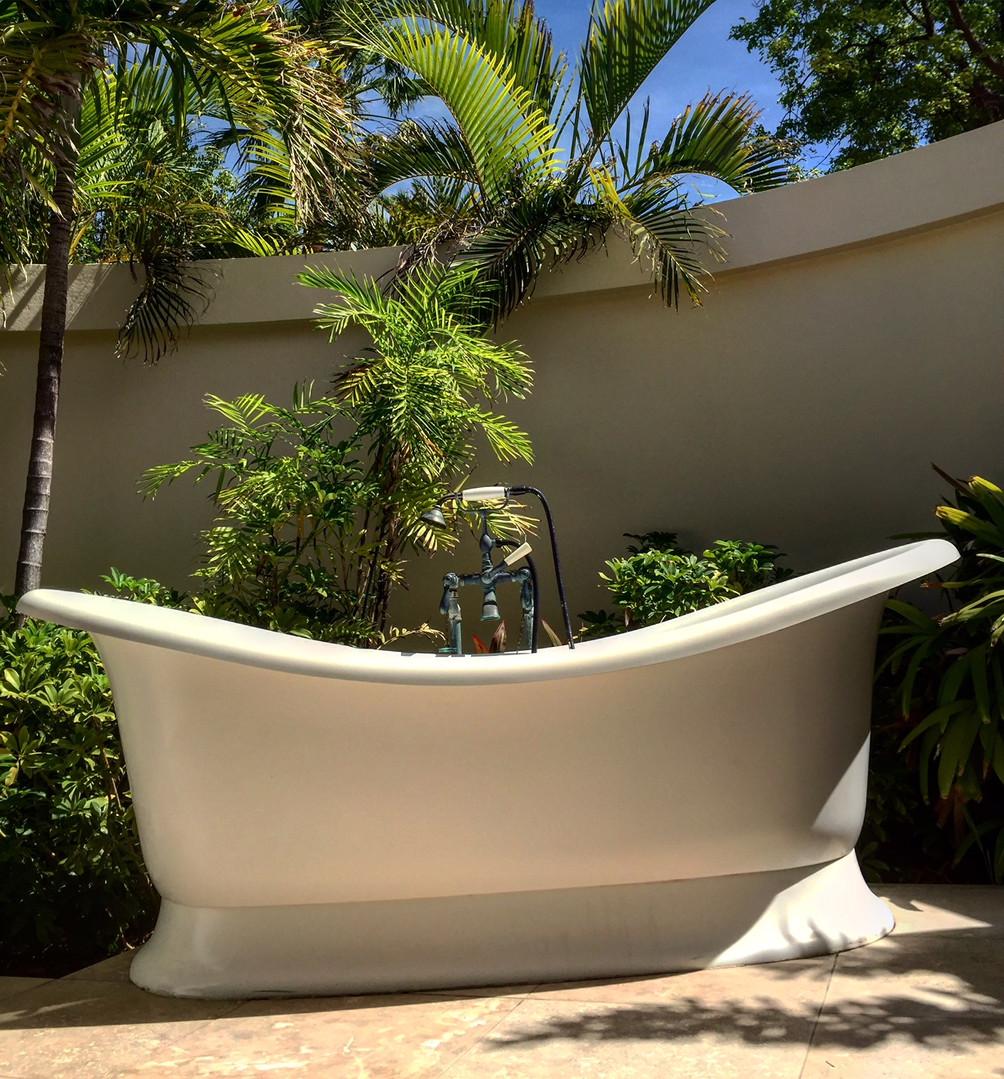 Jumby Bay Pool View Room outdoor bathtub