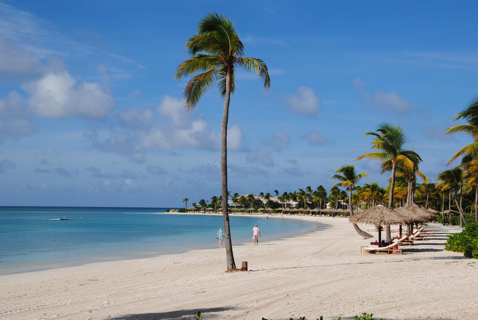 Jumby Bay Hotel and Resort main beach...