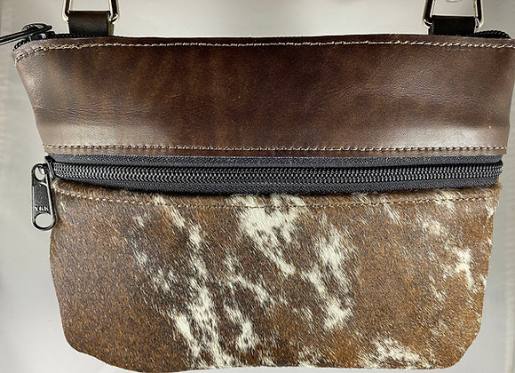 """Mottled Brown with Brown & White H-O-H """"Memphis"""" Bag"""