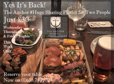 It's Back ! The Anchor #Huge Sharing Platter for Two just £30