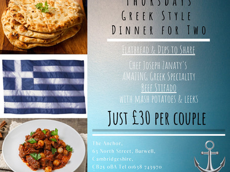 Thursdays Meal Deal for Two 30th January 2020