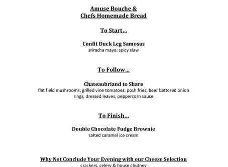Chateaubriand To Share Menu