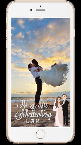 Custom wedding geo-filter