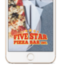 Geo-Filter for five star pizza