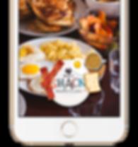 Geo-Filter for a diner