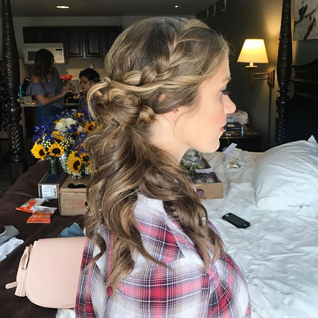 This beautiful braided updo was one of our favs from this weekend! Hair_ _marsianogueira