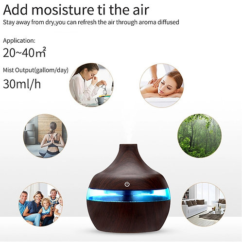 300ml Air Aroma Essential Oil Diffuser with LED Lighting