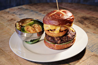 Irishman Burger with Brussel Sprouts