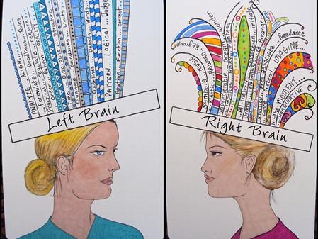 תרגיל בלמידה משמעותית - שני חלקים למוח...לוגי ויצירתי
