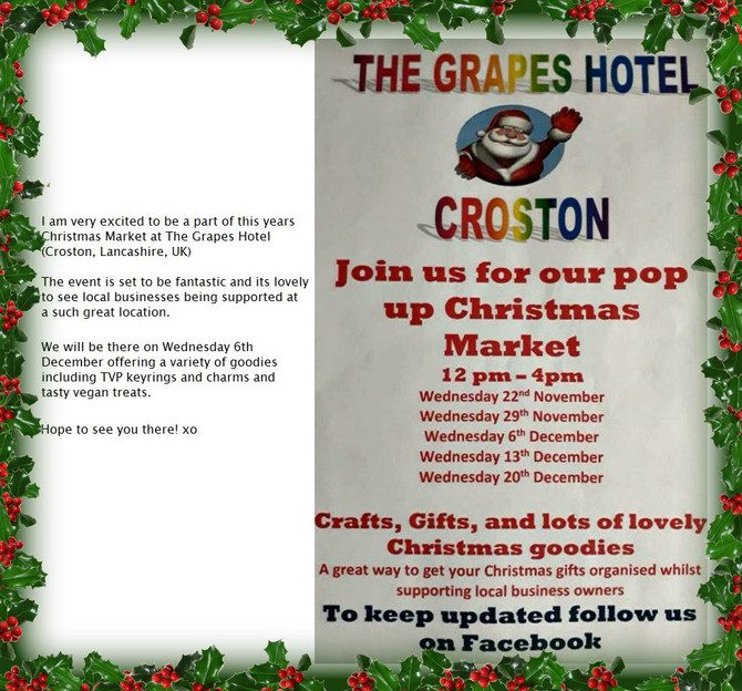 POP UP XMAS MARKET 6/12/17 @THEGRAPESCROSTON