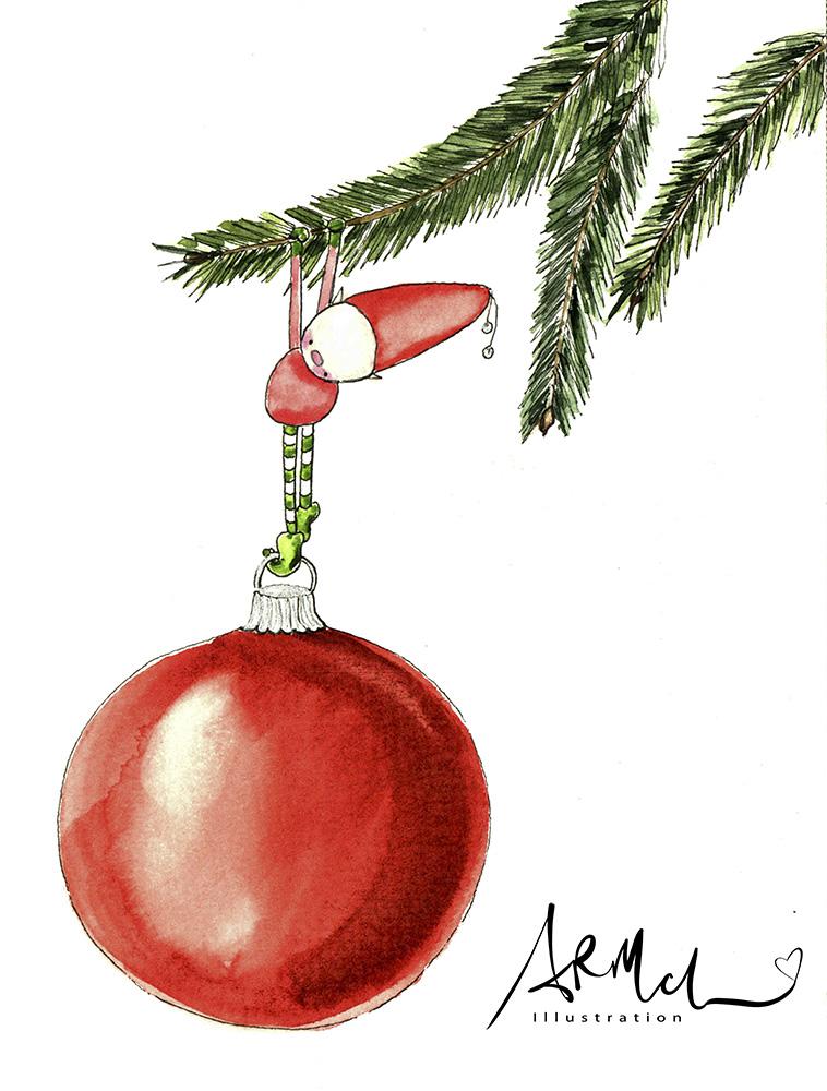 Elf Decorating Tree