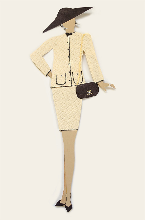 Vintage Chanel on Paper Doll