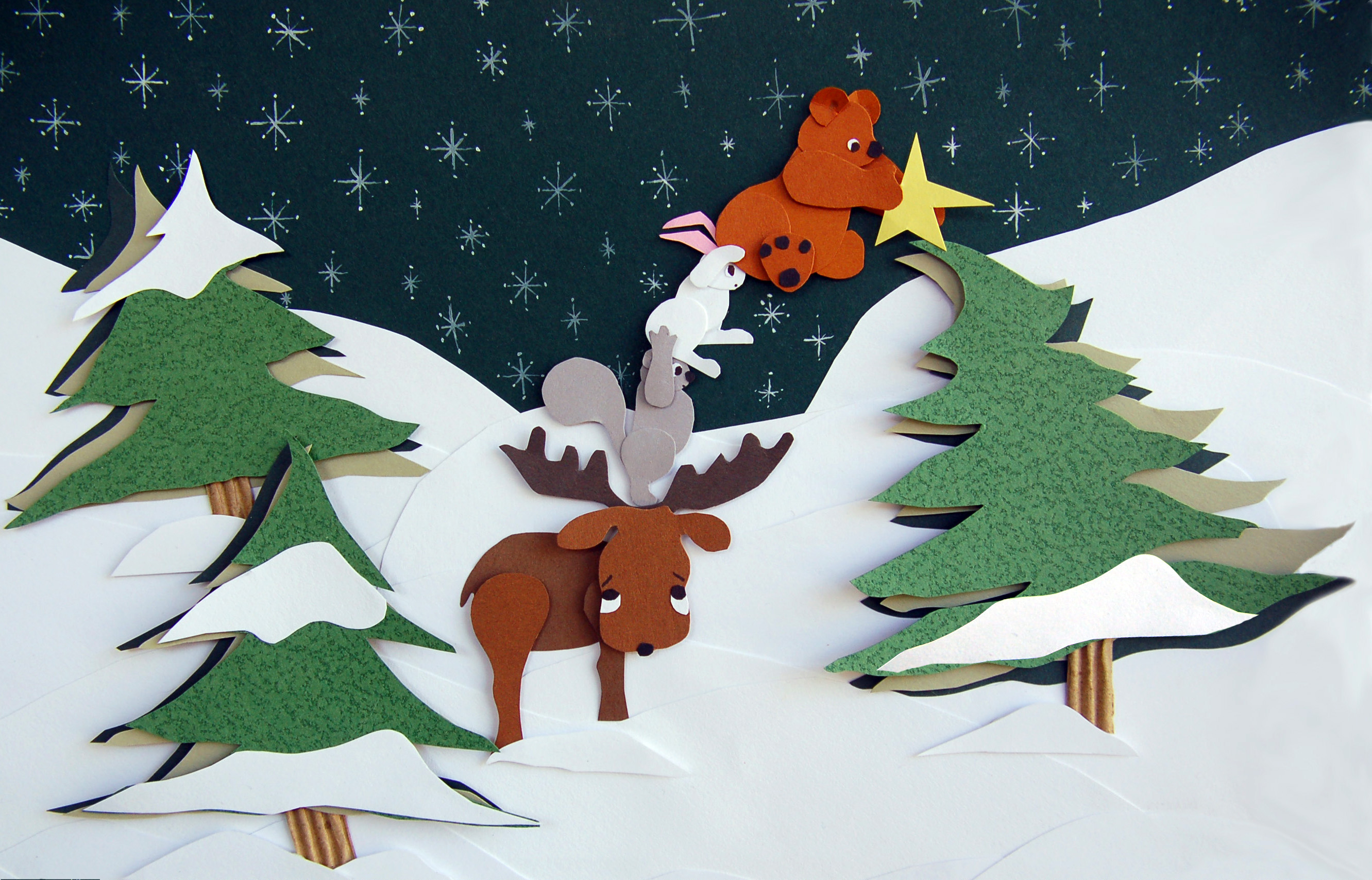 Woodland Animal Christmas