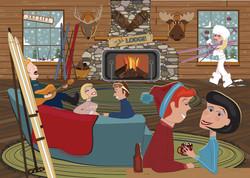 Winter at the Ski Lodge