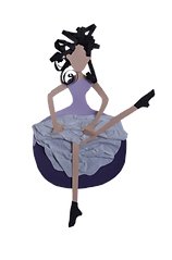 cut paper illustration dancing woman