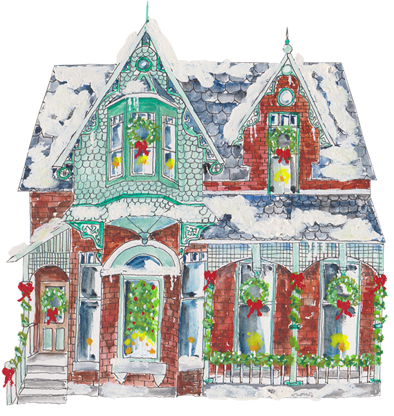 Red Brick Victorian at Christmas