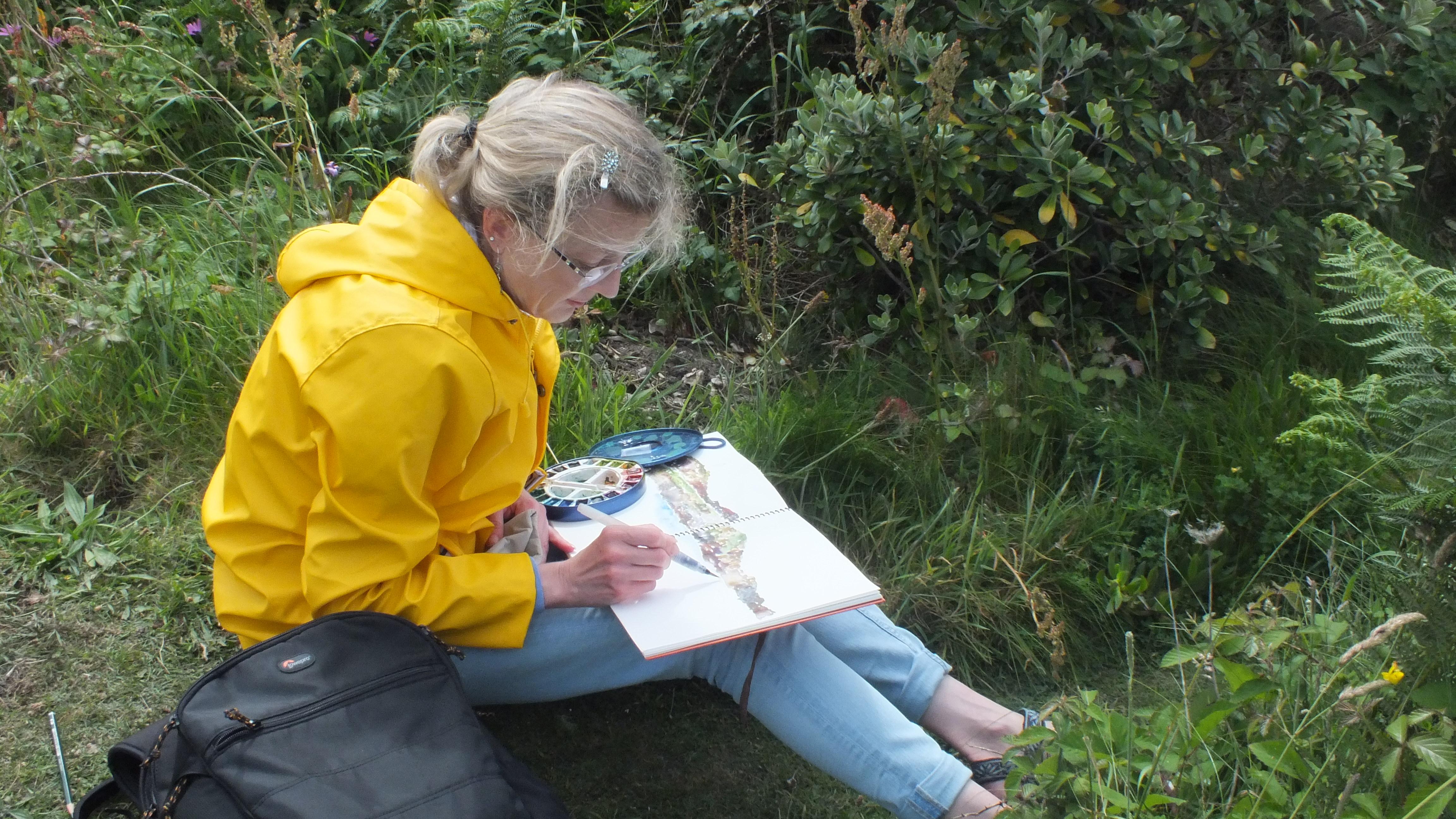 Drawing in Cornwall, UK
