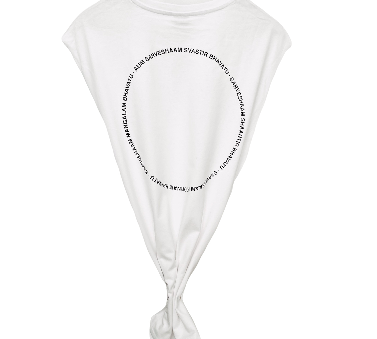 SLEEVELESS TEE | white